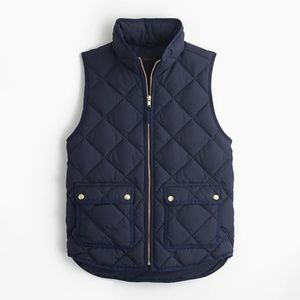 J.Crew Navy Excursion Quilted Puffer Vest